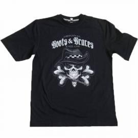 Boots & Braces T-Shirt Skull Bad Schwarz Totenkopf - Bild vergrößern