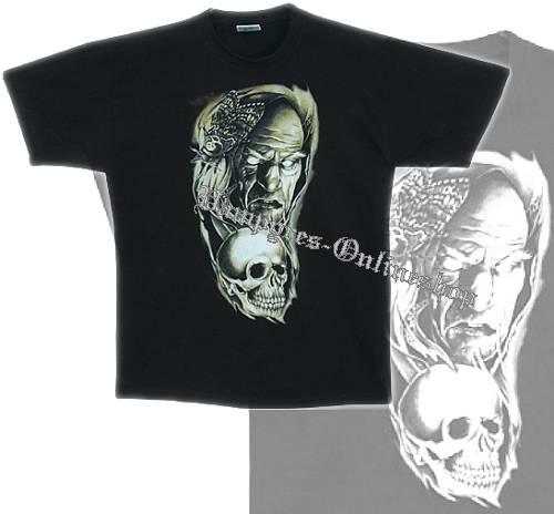 B&C T-Shirt Wikinger Motiv 2 Schwarz