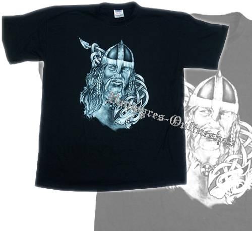 B&C T-Shirt Wikinger Motiv 5 Schwarz