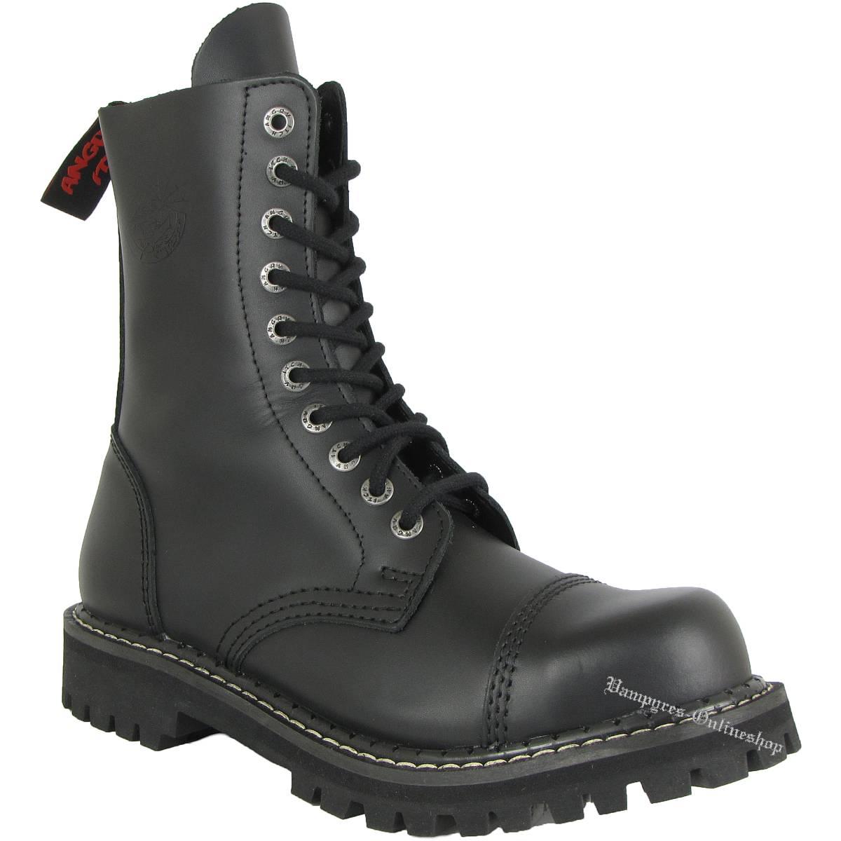 Angry Itch 10-Loch Schwarz Rangers Stiefel Schuhe