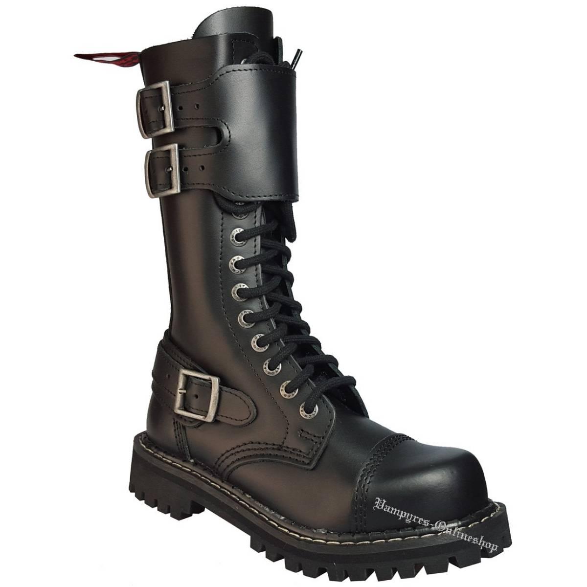Angry Itch 14-Loch Shield Schwarz Rangers Stiefel Schuhe