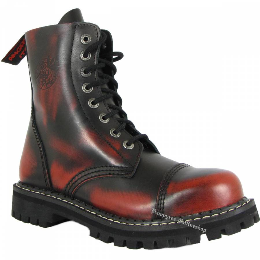 Angry Itch 8-Loch Rot Schwarz Rub-Off Rangers Stiefel Schuhe