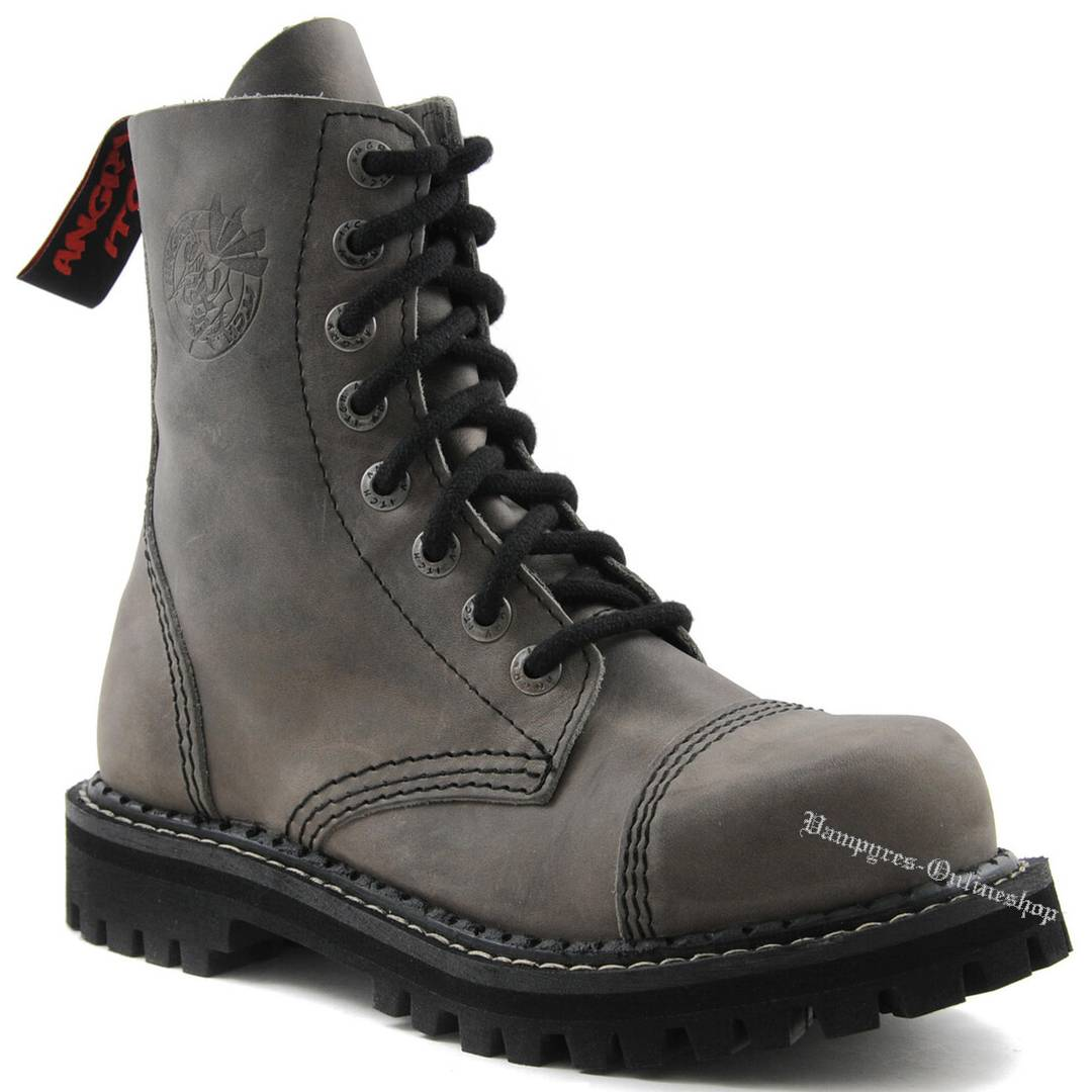 Angry Itch 8-Loch Grau Vintage Rangers Stiefel Schuhe
