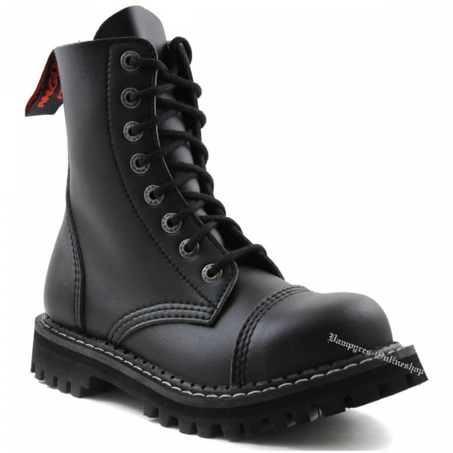 Angry Itch 8-Loch Vegan Schwarz Rangers Stiefel Schuhe