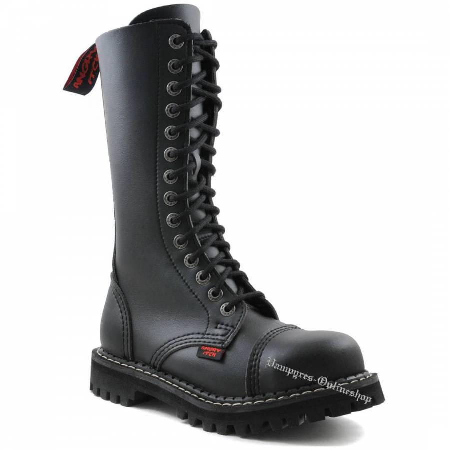 Angry Itch 14-Loch Vegan Schwarz Rangers Stiefel Schuhe