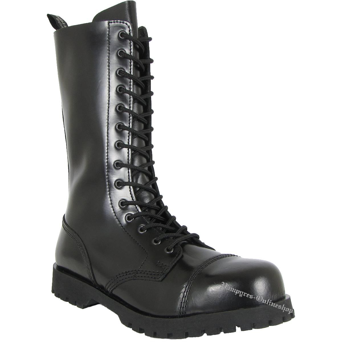 Boots & Braces 14-Loch Schwarz Stiefel Rangers