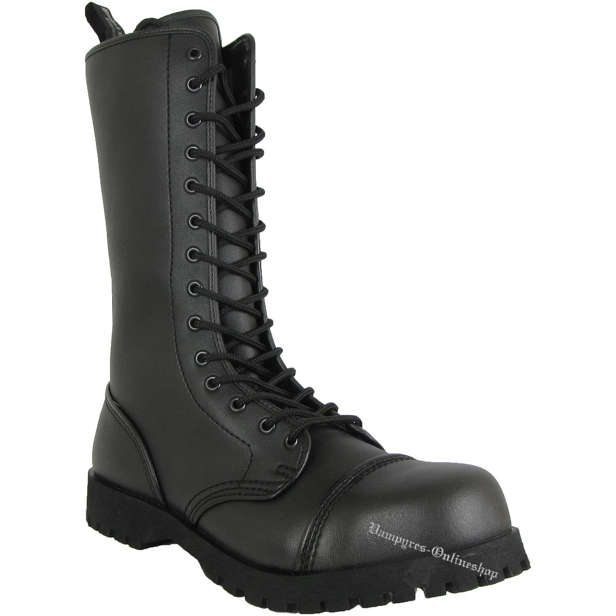 Boots & Braces 14-Loch Vegetarian Schwarz Stiefel Vegane Rangers Vegi