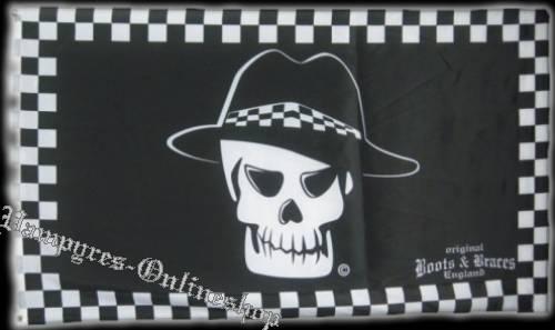 Boots & Braces Totenkopf Flagge 150 x 90 Skull Fahne