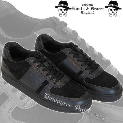 Boots & Braces Sneaker Schwarz Schuhe Freizeitschuh Turnschuh