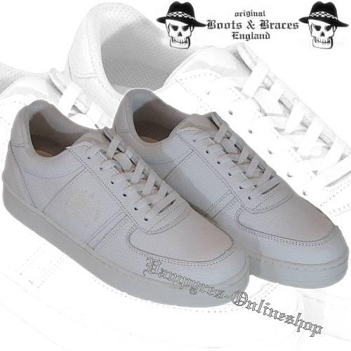 Boots & Braces Sneaker Weiß Schuhe Freizeitschuhe Turnschuhe