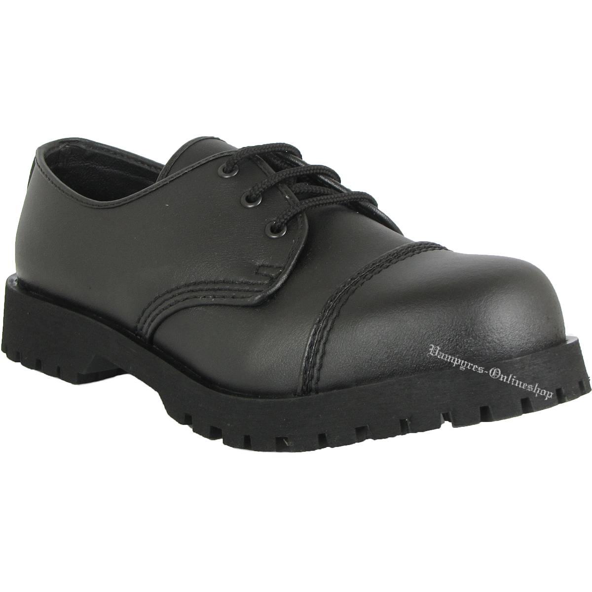 Boots & Braces 3-Loch Vegetarian Schwarz Schuhe Vegi Rangers