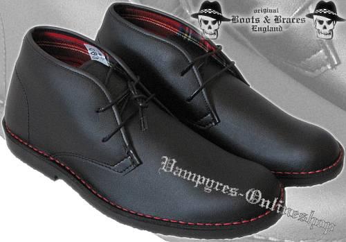 Boots & Braces 2-Loch Vegetarian 2012er Schwarz Tartan Schuhe