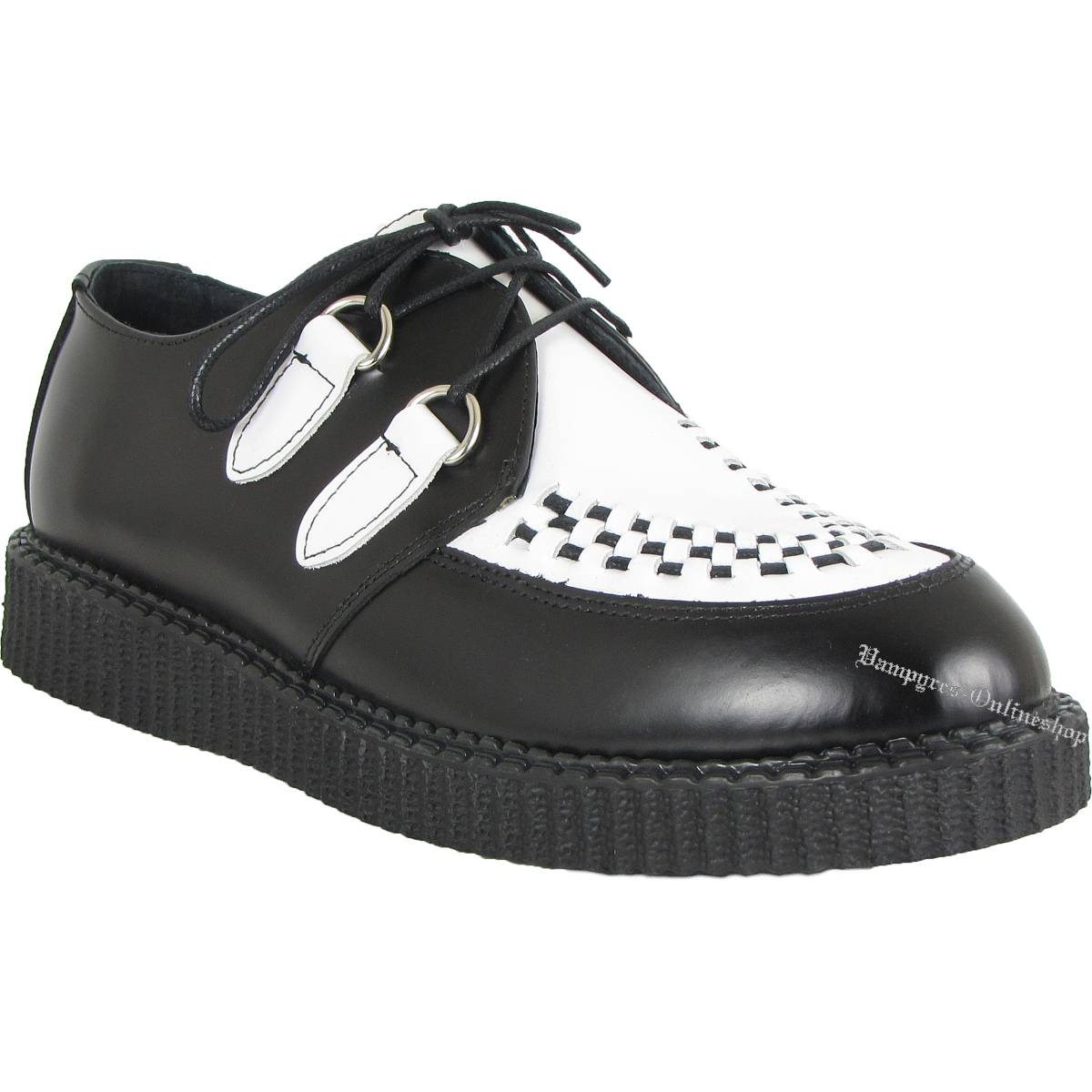 Boots & Braces Creeper New Schwarz Weiß Schuhe Creepers