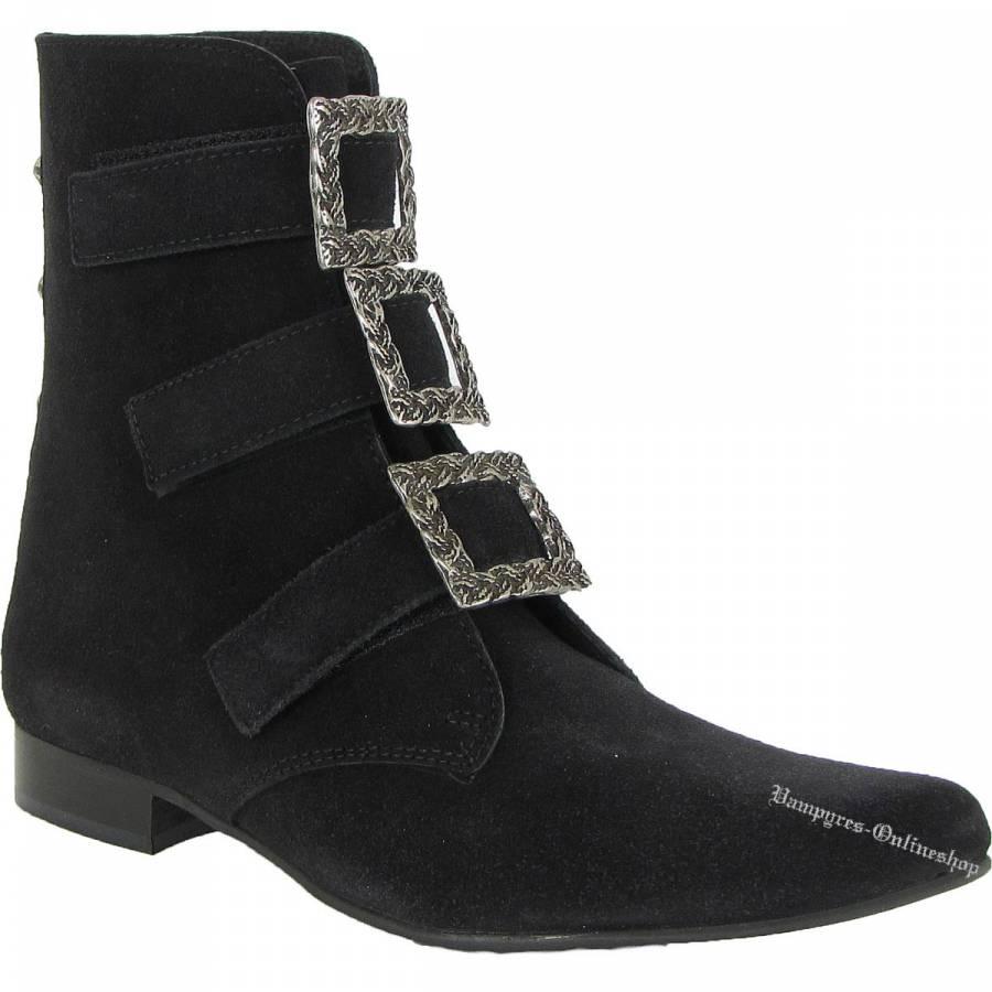 Boots & Braces Winkelpiker Garibaldi Schwarz Wildleder Pikes