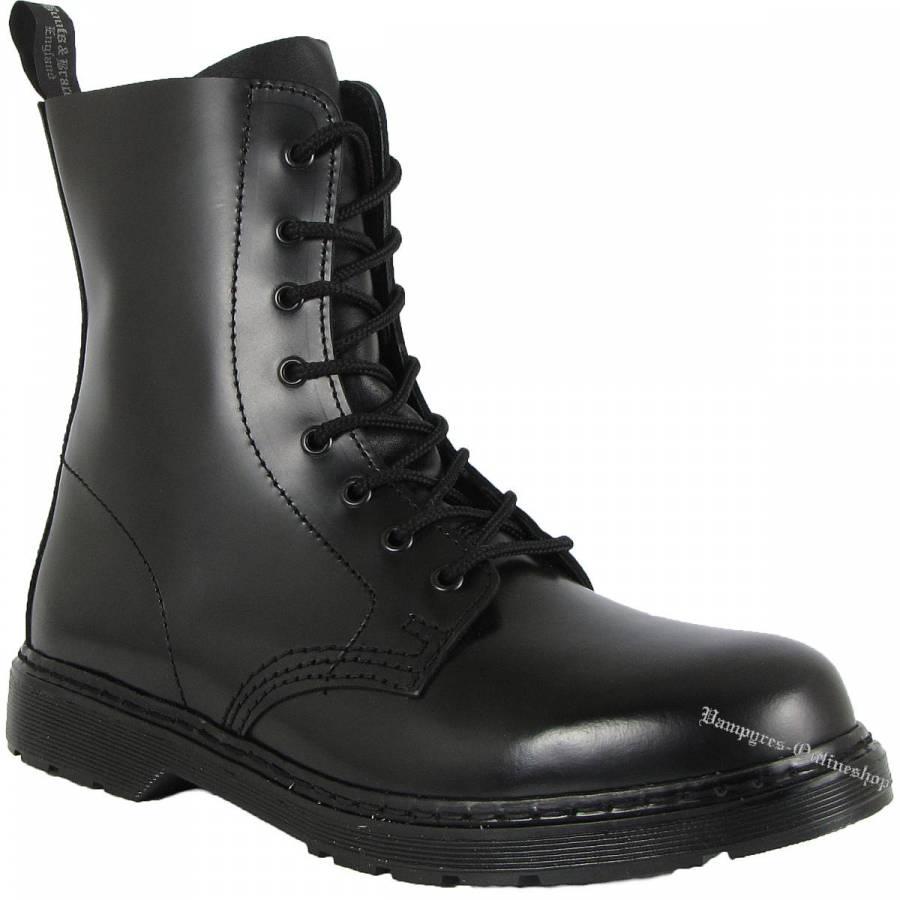 Boots & Braces Easy 8-Loch Schwarz Stiefel
