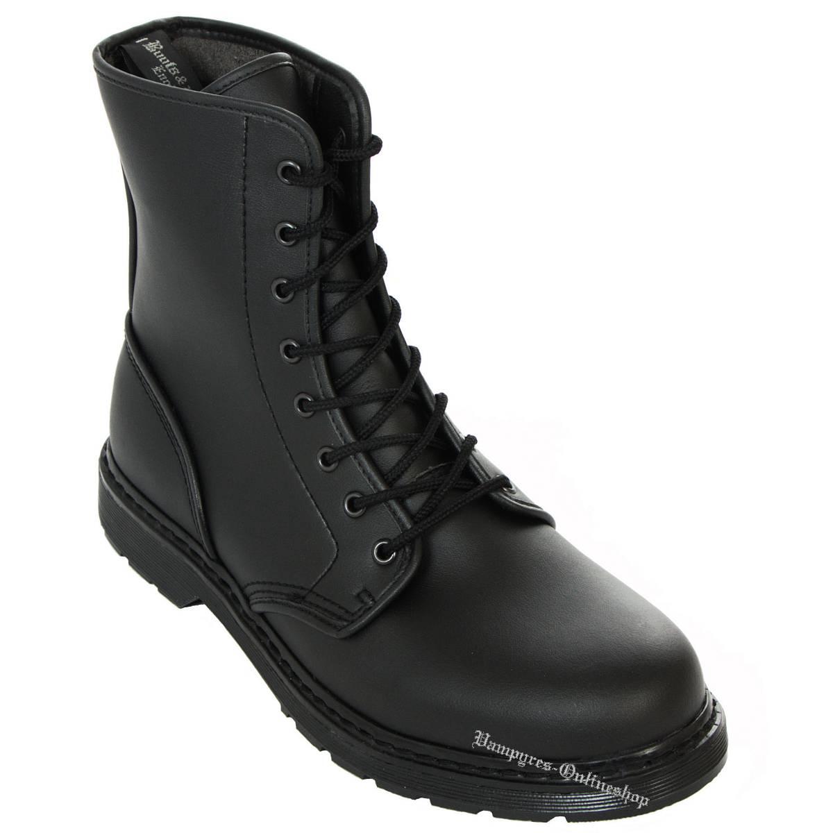 Boots & Braces Easy 8-Loch Vegetarian Schwarz Stiefel
