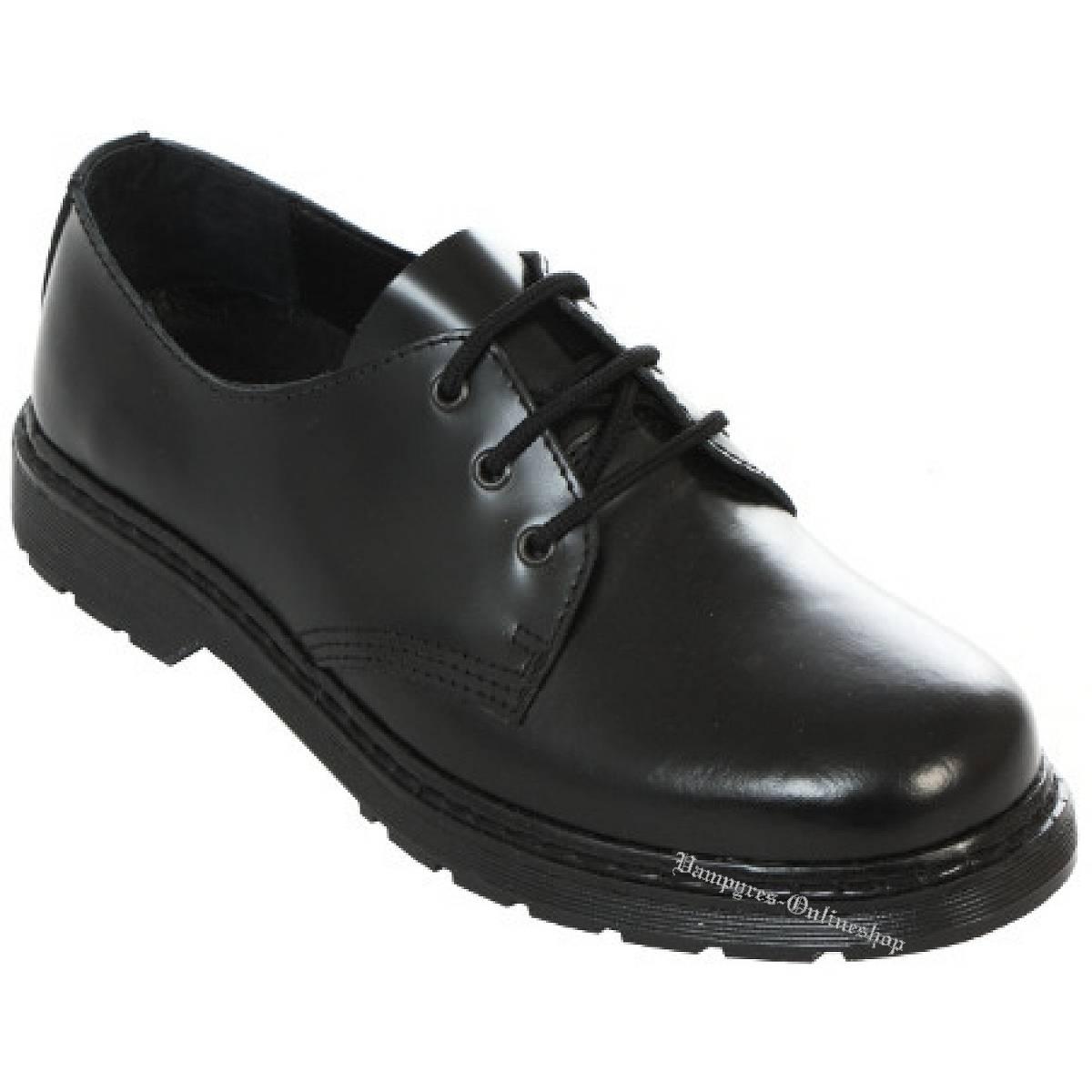 Boots & Braces Easy 3-Loch Schwarz Schuhe