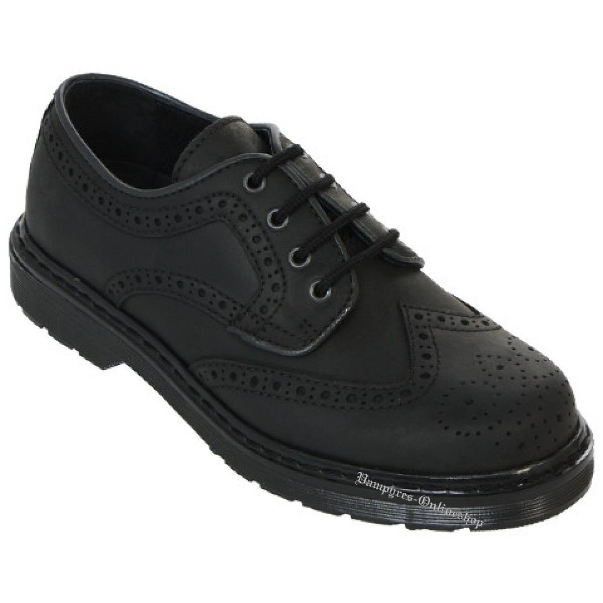 Boots & Braces Easy 4-Loch Budapester Schwarz Schuhe