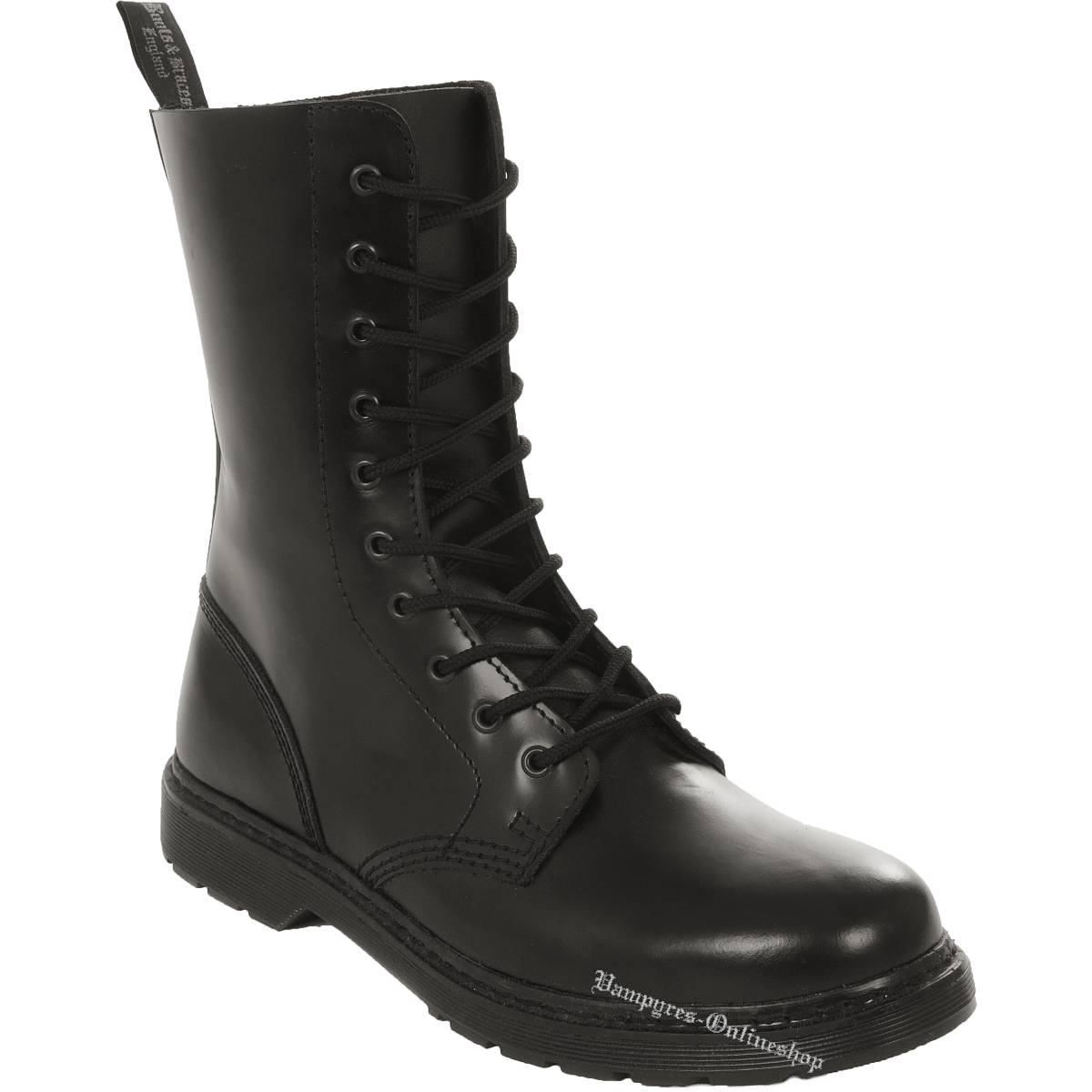 Boots & Braces Easy 10-Loch Schwarz Stiefel