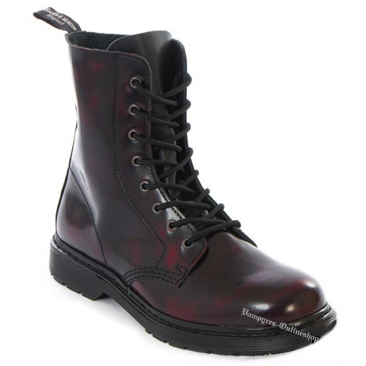 Boots & Braces Easy 8-Loch Burgundy Rub-Off Stiefel