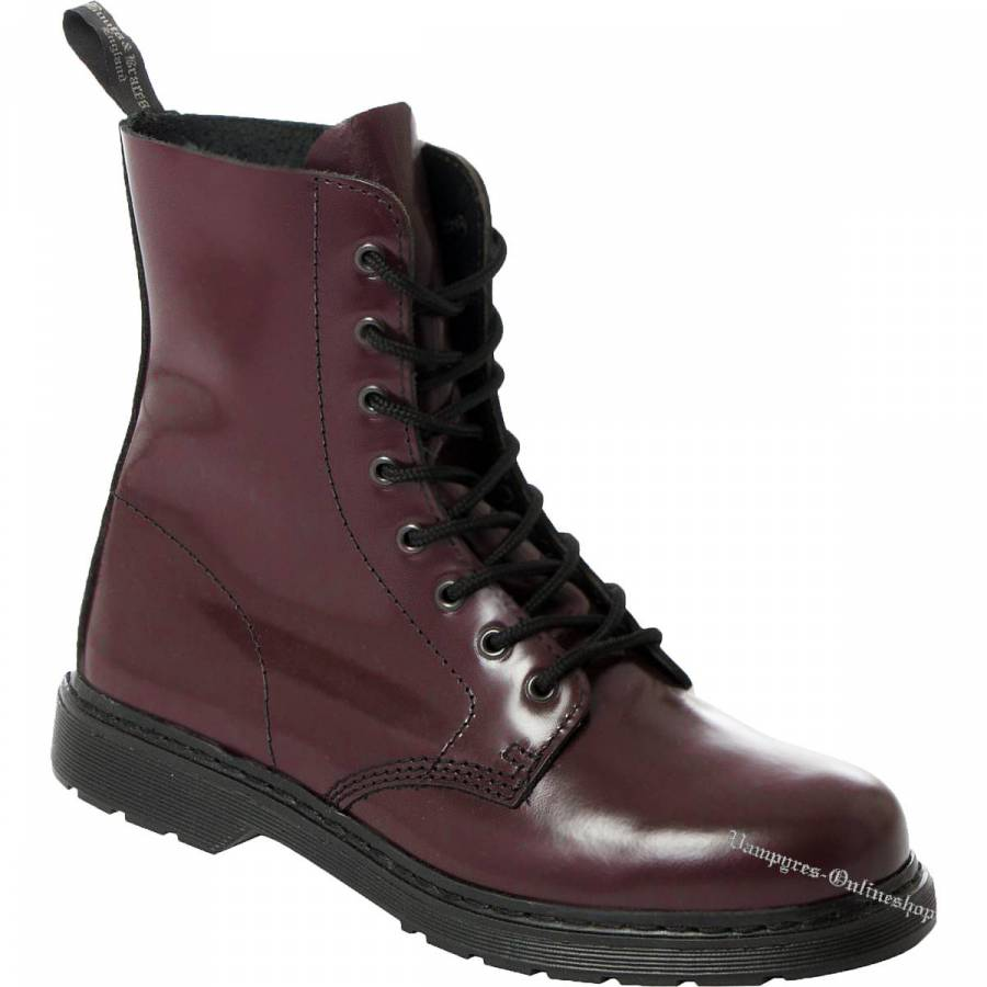 Boots & Braces Easy 8-Loch Cherry Rot Stiefel