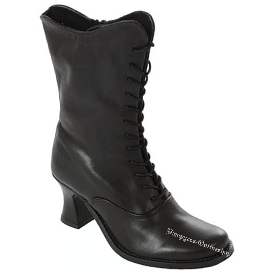 Boots & Braces Lady Boot Black Leather Schwarz