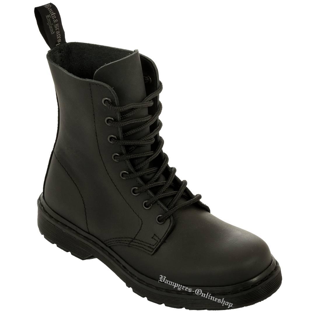 Boots & Braces Easy 8-Loch Basic Schwarz Matt