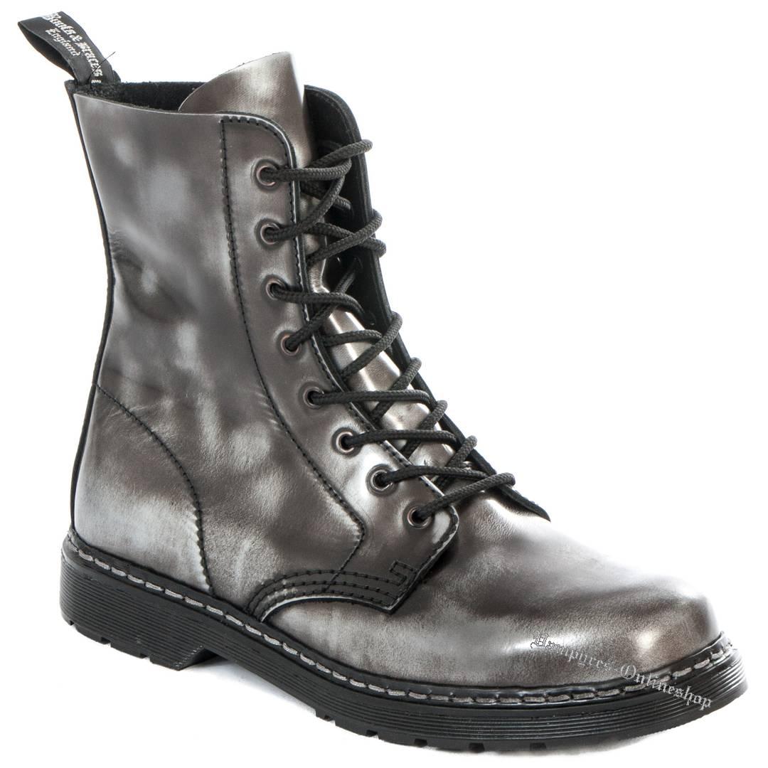 Boots & Braces Easy 8-Loch Silber Rub-Off Stiefel