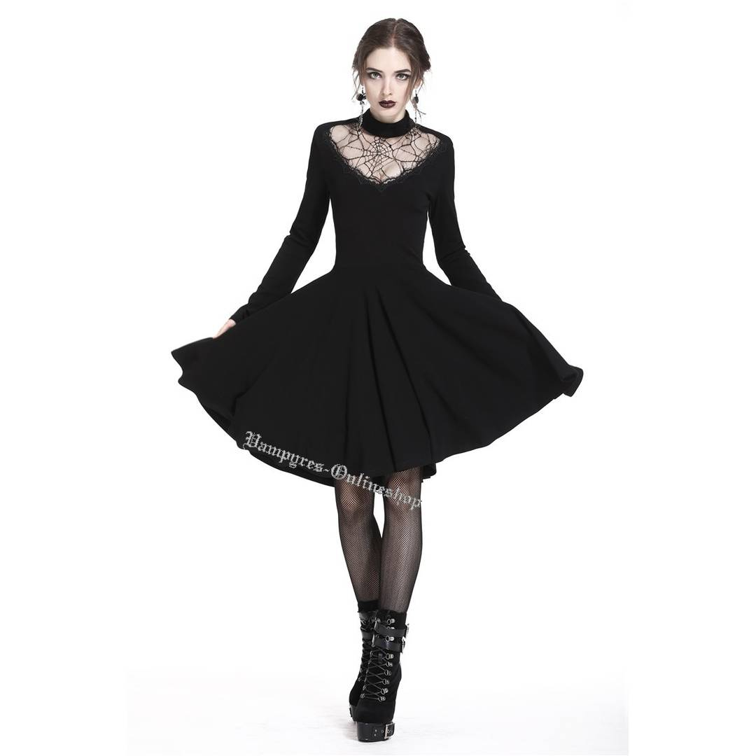 Dark In Love Spiderweb Hearted Kleid DW237