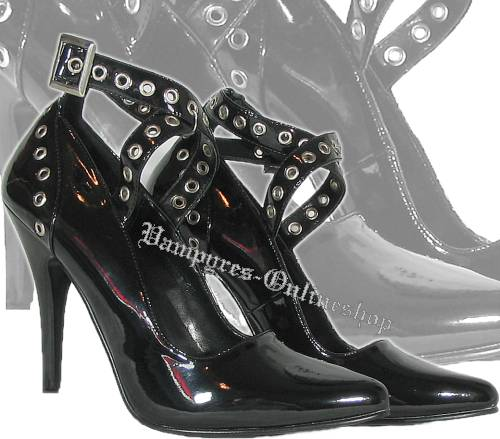 Pleaser Seduce 443 Pumps Schwarz Lack High Heels
