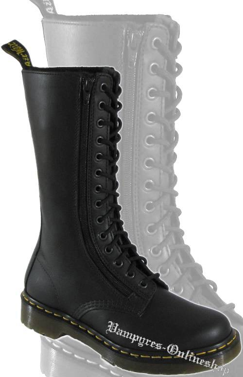 Dr. Martens 14-Loch Zip BIN 9733 Black Illusion Schwarz Docs Boots