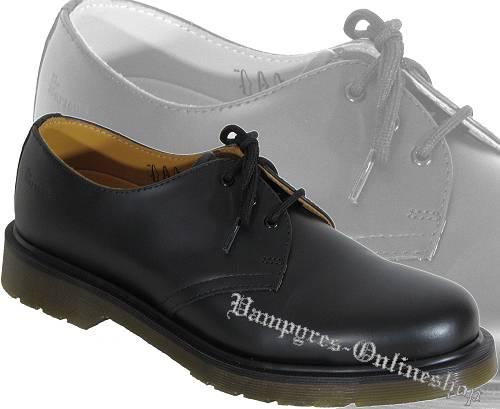 Dr. Martens 3-Loch BSM 1461 ohne Naht Schwarz Docs Schuhe Boots