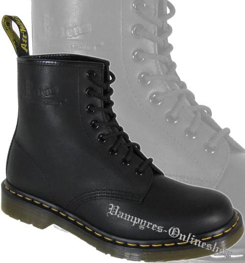 Dr. Martens 8-Loch 1460 Greasy Harvey Matt Schwarz Docs Stiefel Boots