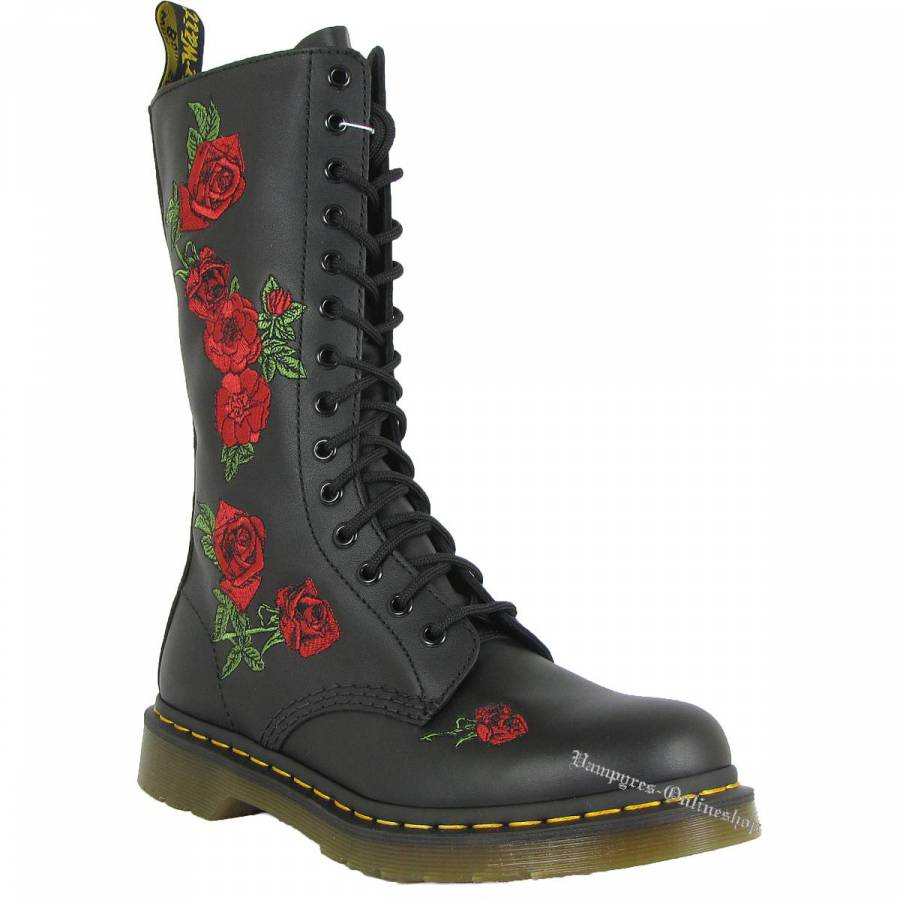 Dr. Martens 14-Loch Vonda 12761001 Zip Schwarz Docs Boots