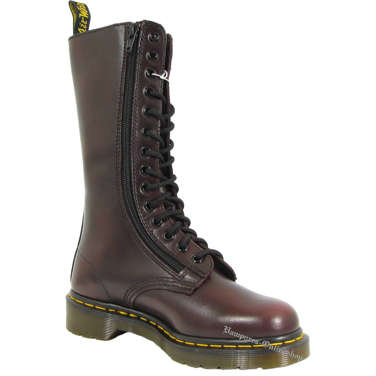 Dr. Martens 14-Loch 9733 Red Vintage Zip Rot 11305600 Docs Boots