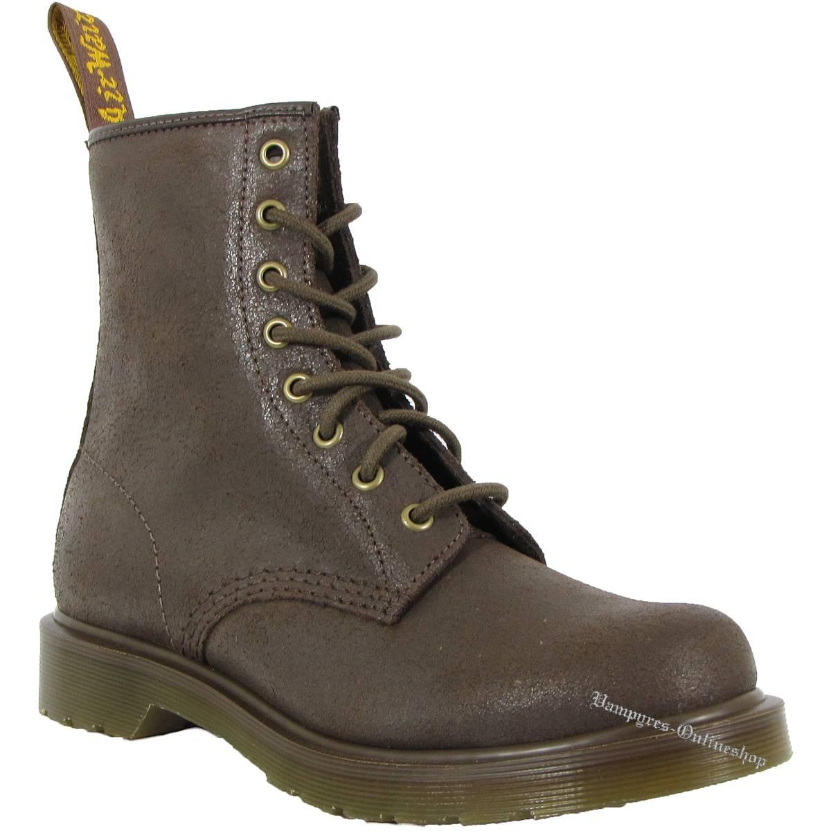 Dr. Martens 8-Loch 1460 Burnished Darken Suede Braun14282201 Docs Boots