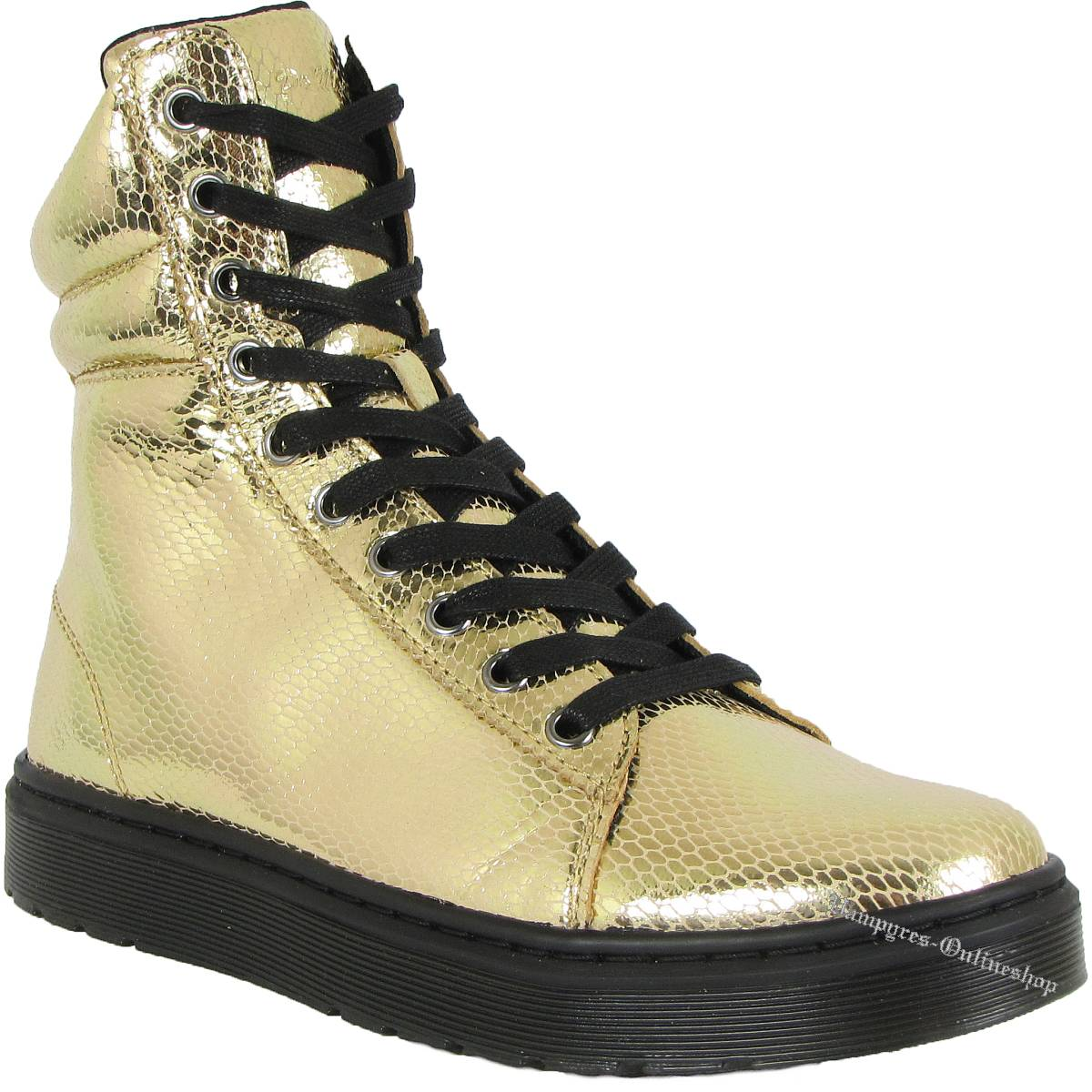 Dr. Martens 10-Loch Mix Mini Metallic Snake Gold 15319710 Docs Boots