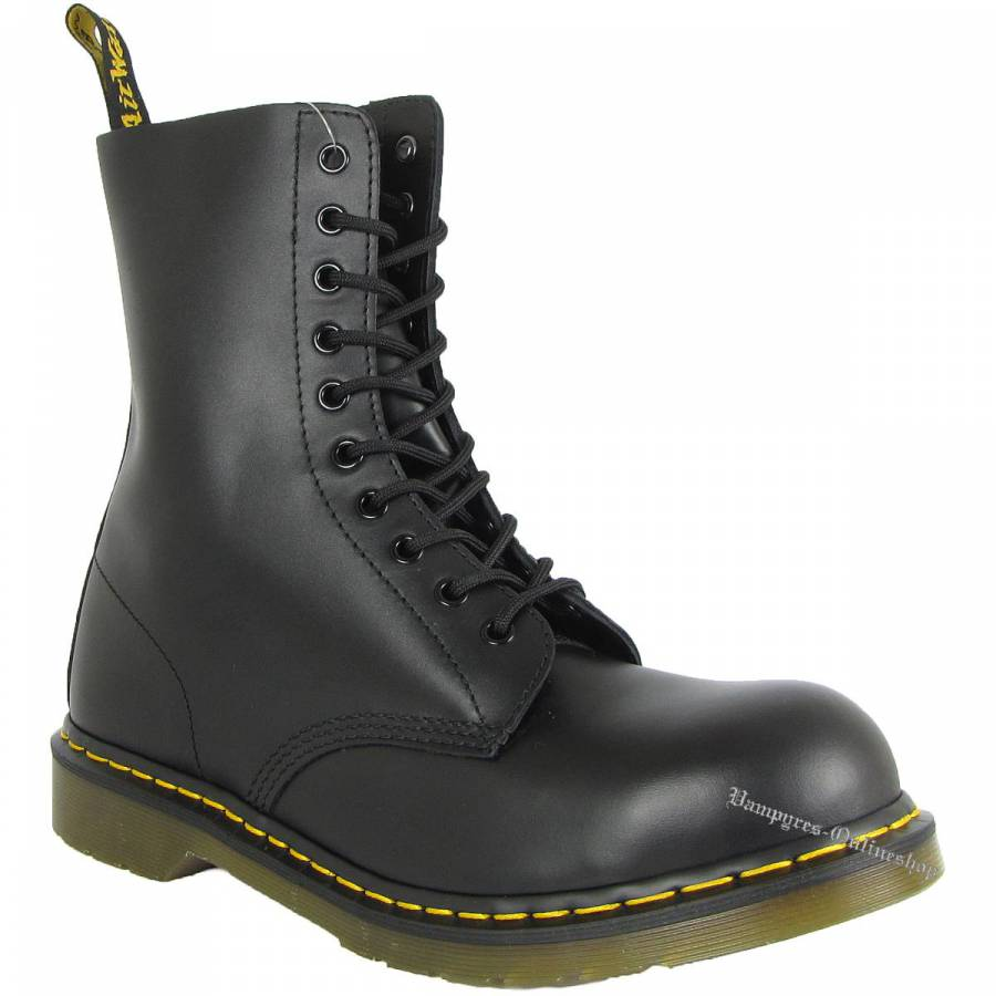 Dr. Martens 10-Loch 1919 Fine Haircell 10105001 Schwarz Docs Boots