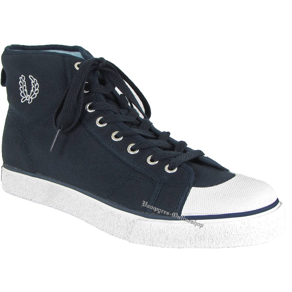 Fred Perry Basketball Boot Navy B17608 Blau Sneaker