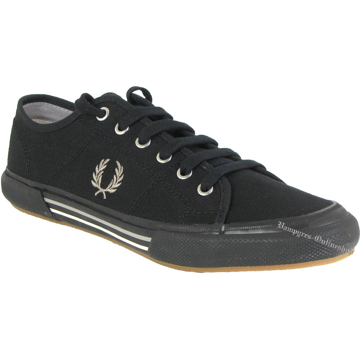 Fred Perry Vintage Tennis Canvas B4249 Sneaker Schwarz