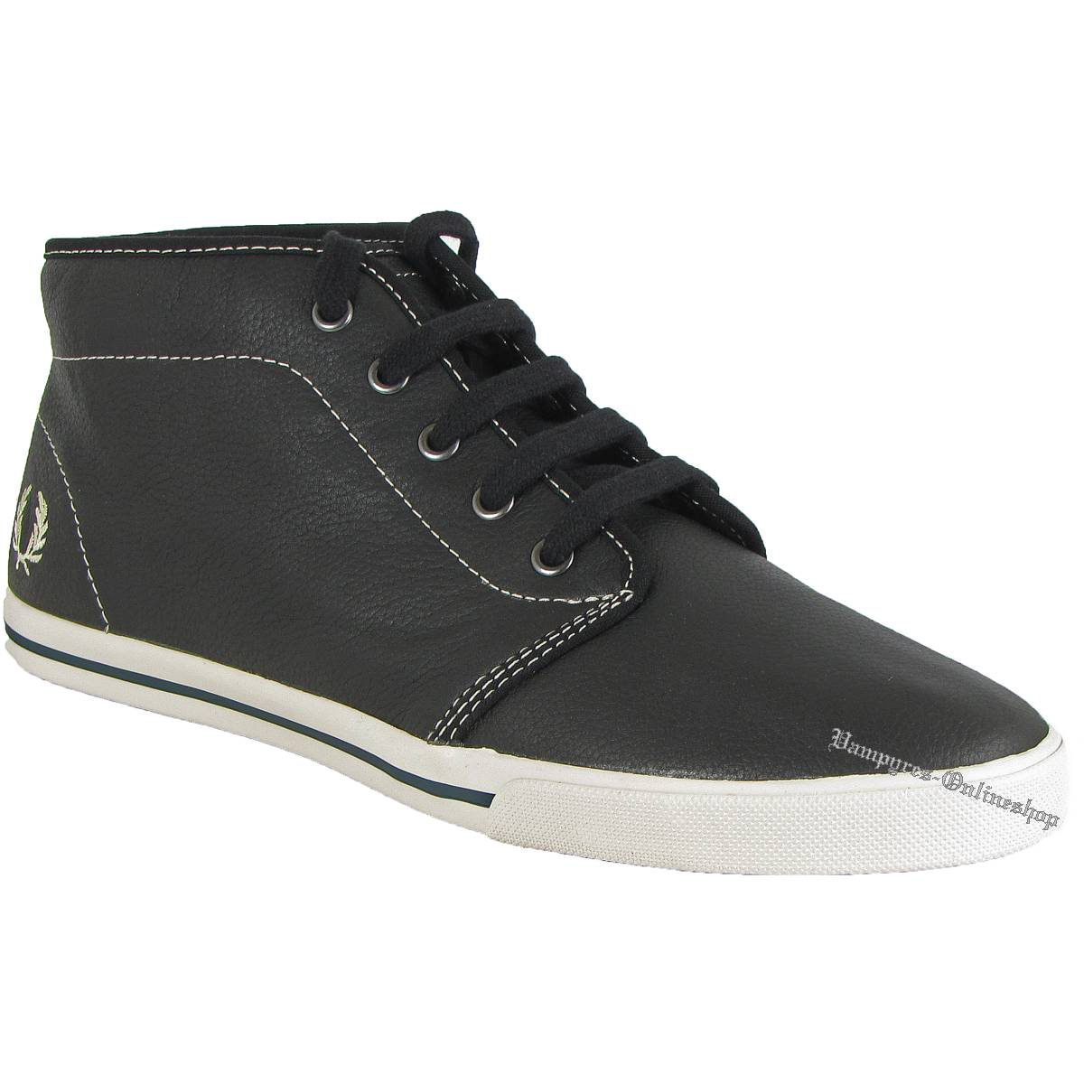 Fred Perry Fletcher Leather Black B8209 Schwarz Sneaker