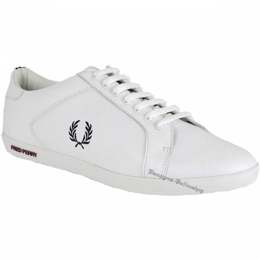 Fred Perry Earl Leather White B9059 Weiß Sneaker