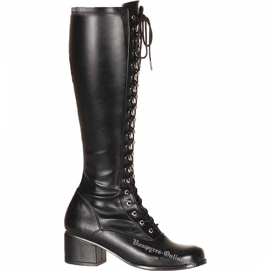 Funtasma Retro 302 PU Schwarz Stiefel High Heels