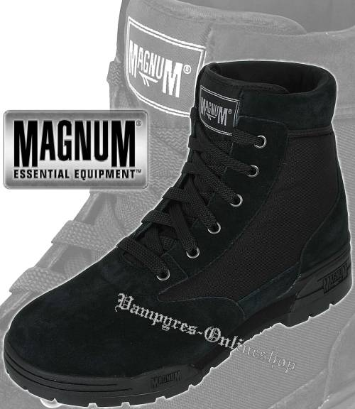 Hi-Tec Magnum Mid Suede Schwarz Schuhe Wildleder Stiefel