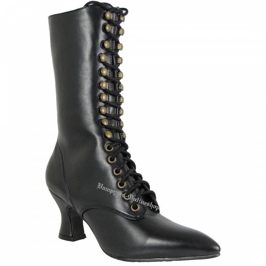 Industrial Punk Victorian Boots Schwarz Stiefel