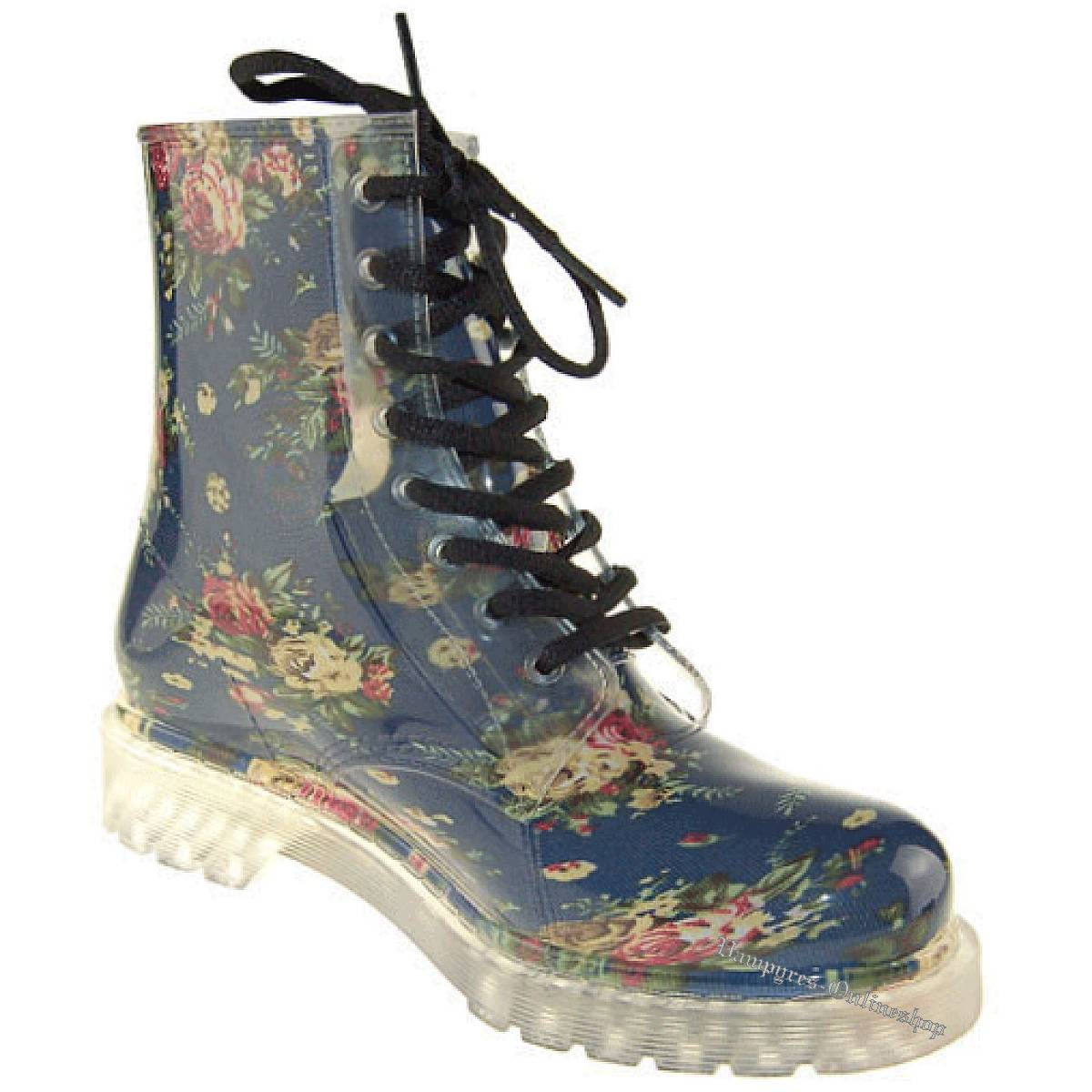 Silicone Valley 8-Loch Flower Rain Boot Gummistiefel