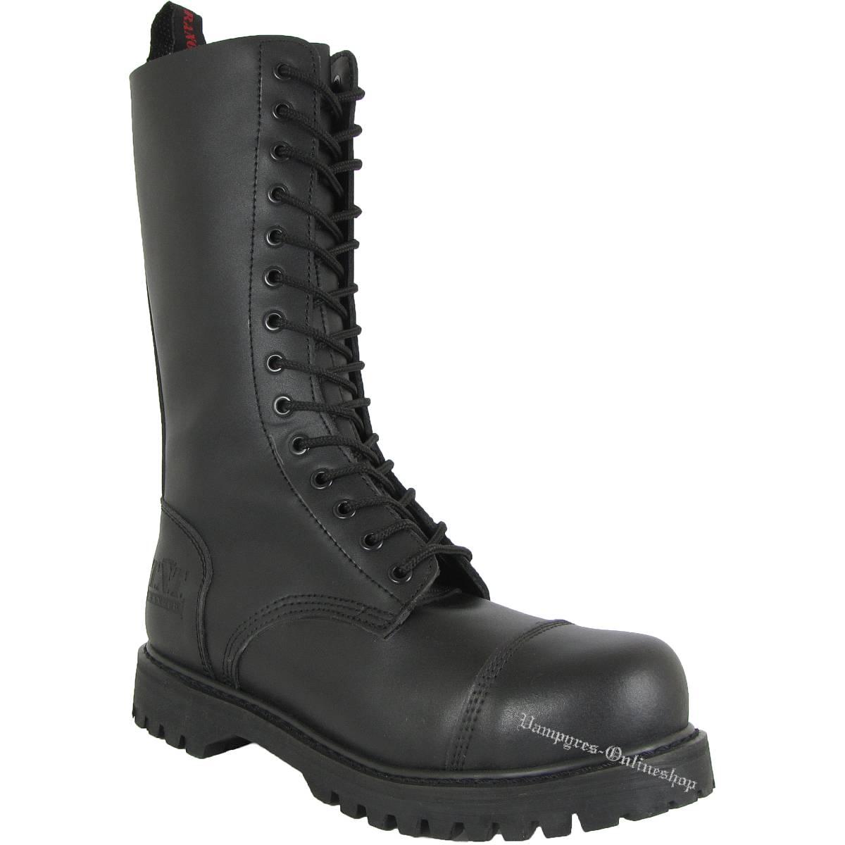 TNT 14-Loch Side-Zip Stiefel Schwarz Rangers Boots