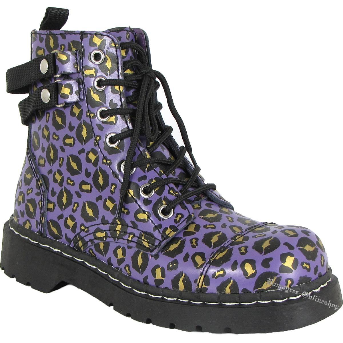 T.U.K. Anarchic T2186 Lila Kiss Leo Plum TUK Boots