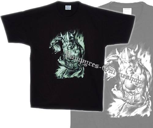 B&C T-Shirt Wikinger Motiv 3 Schwarz